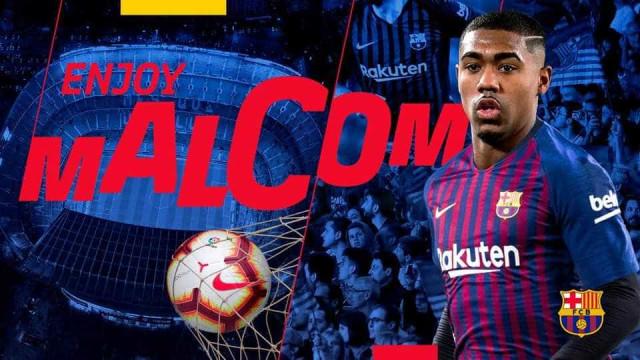 Barcelona oficializa contratação de Malcom: '¡Bienvenido!'