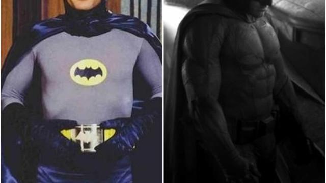 Veja as versões antigas e mais recentes destes super-heróis no cinema