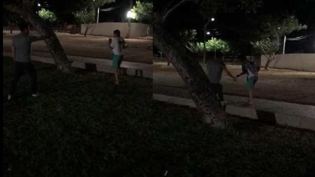 Veja o vídeo do empresário que 'brincou' de atirar em pé de funcionário