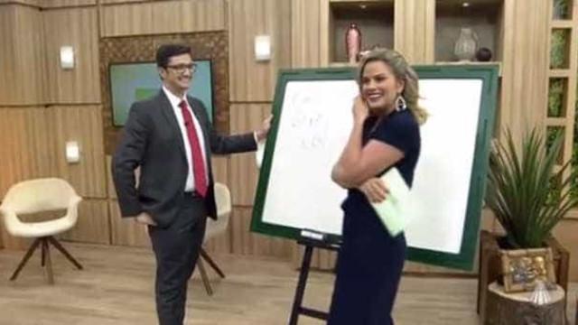 Apresentadora é pedida em namoro ao vivo na TV; assista