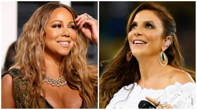 Ivete 'vence pelo cansaço' e conquista follow de Mariah Carey