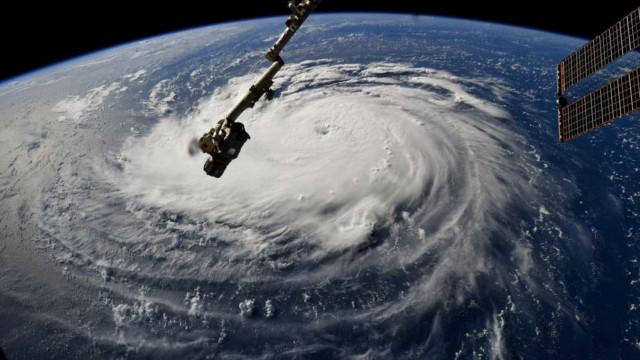 Avião captou imagens do olho do furacão Florence