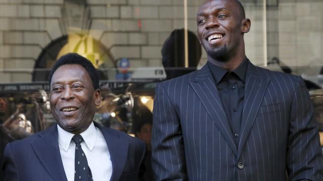 Conversa com Pelé foi decisiva para Bolt virar jogador de futebol
