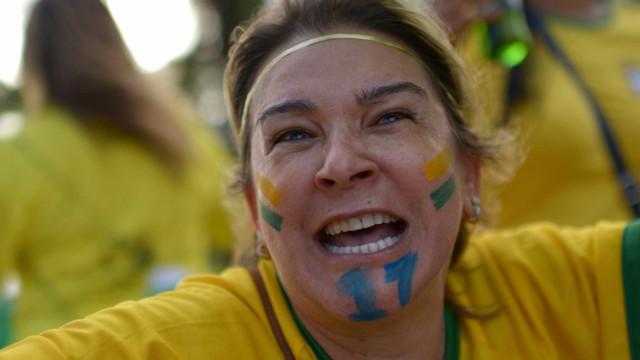 Em Brasília, manifestantes fazem ato a favor de Bolsonaro