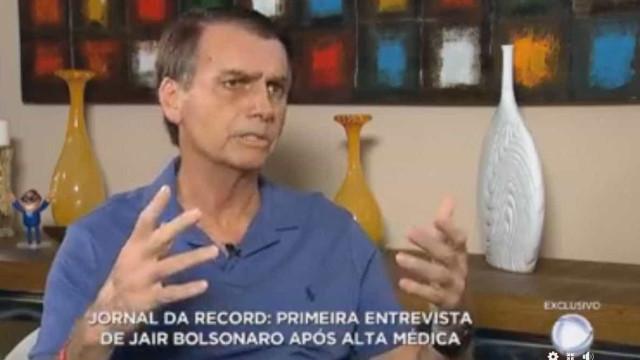 TSE libera entrevista com Bolsonaro no horário do debate da Globo
