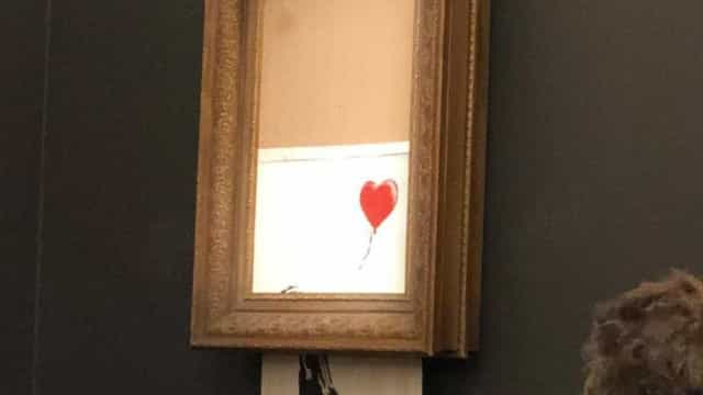 Obra de Banksy se desfaz logo após venda de £ 1 milhão na Sotheby's