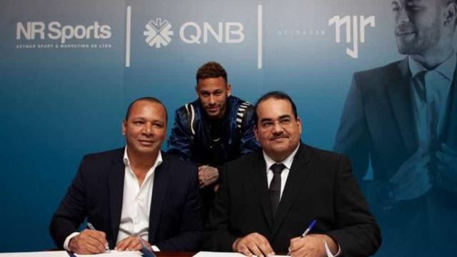 Neymar vira embaixador do Banco Nacional do Catar