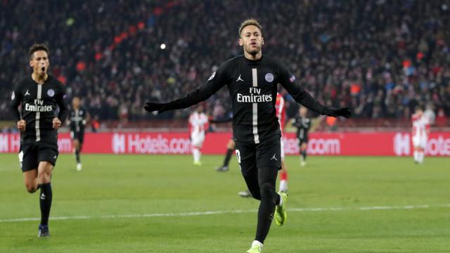 Com golaço de Neymar, PSG vence na Sérvia e avança na Champions