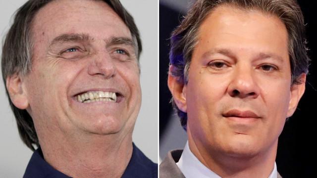 Bolsonaro e Haddad batem boca nas redes sociais