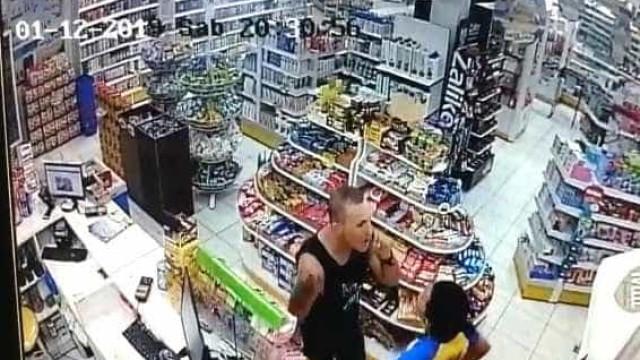 Sargento da PM flagrado agredindo mulher em farmácia é afastado