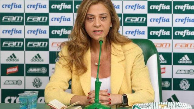 Leila afirma que patrocínio do Palmeiras desperta inveja nos rivais