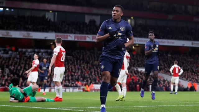 Manchester United vence Arsenal e vai às 8ª da Copa da Inglaterra