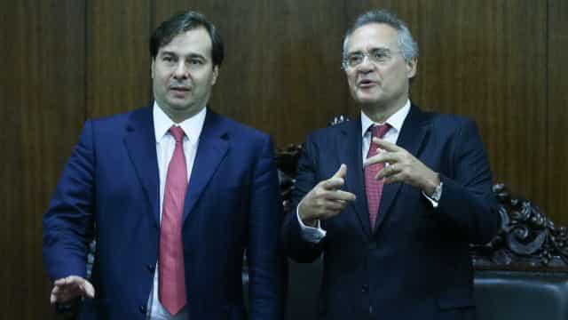 Maia e Renan são favoritos junto a investidores do mercado financeiro
