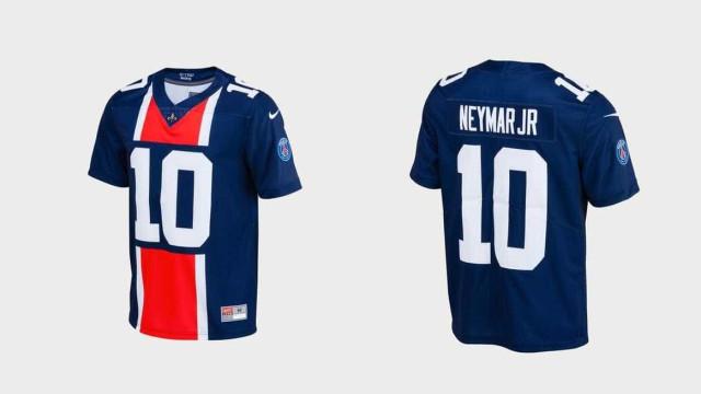Super Bowl? PSG lança camisa de futebol americano para Neymar
