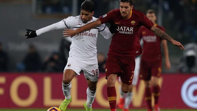 Com passe de Paquetá, Piatek marca e Milan empata com a Roma fora