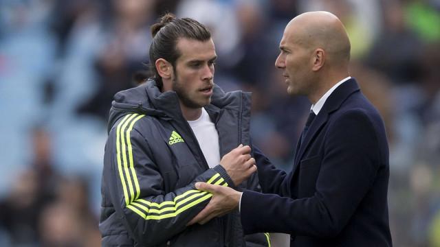 Bale revela que não se dava muito bem com Zidane no Real Madrid
