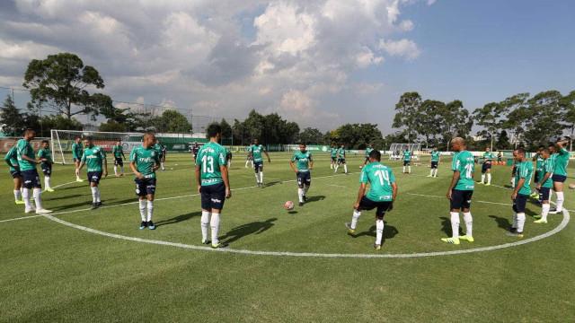 Felipão volta a fechar treino no Palmeiras
