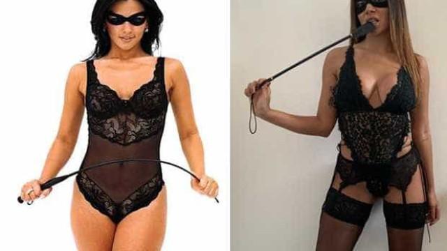 Com lingerie preta e chicote, Anitta vai de Tiazinha para folia