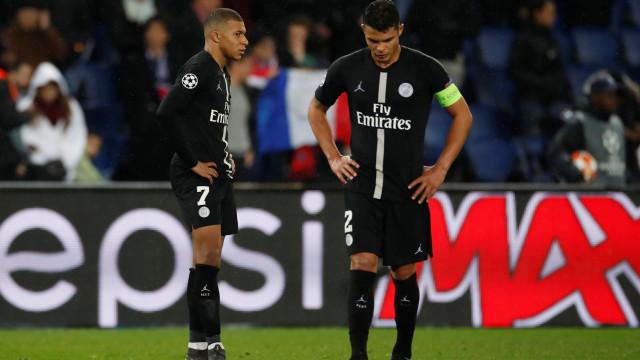 Thiago Silva compara queda do PSG à do Real e pede desculpas à torcida