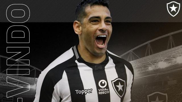 Diego Souza é apresentado no Botafogo