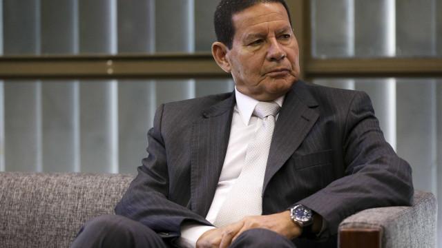 'Excelente trabalho do ministro Onyx', diz Mourão sobre Alcolumbre