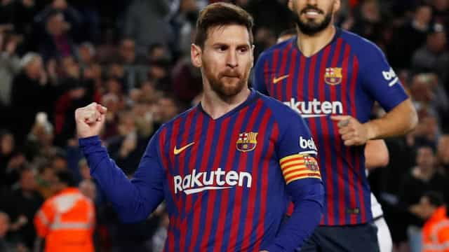 Com gol e assistência de Messi, Barcelona vence de virada