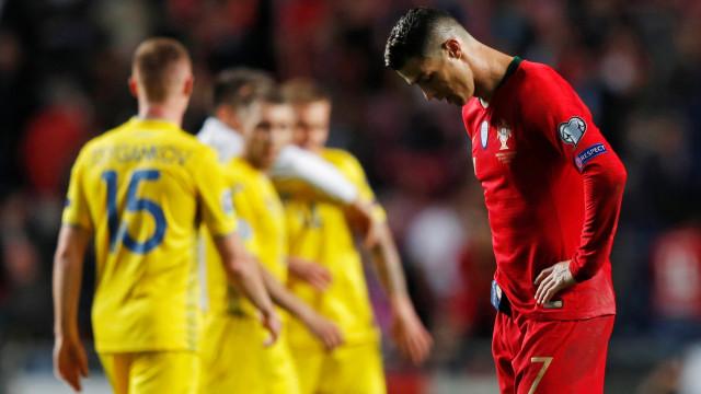 Na volta de Ronaldo, Portugal para na Ucrânia nas Eliminatórias da Euro