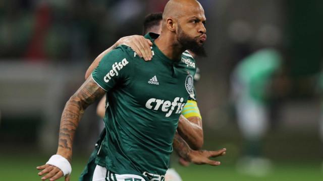 Felipe Melo celebra 100º jogo pelo Palmeiras: 'Pude entrar na história'