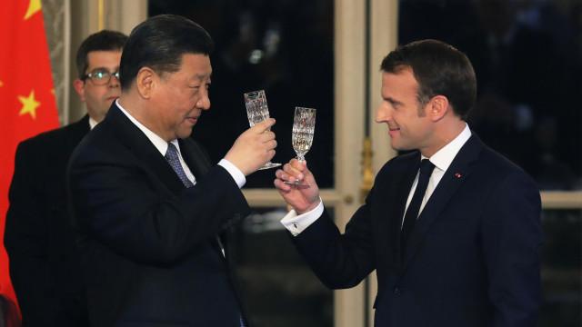 Macron e Xi apoiam multilateralismo e pedem cooperação da UE