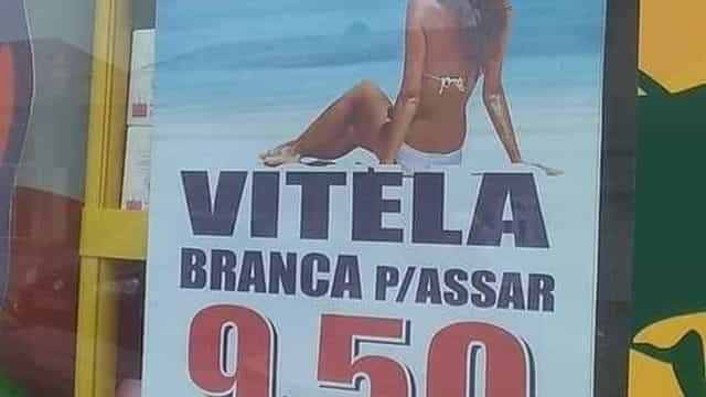 Propaganda de açougue com foto de mulher causa polêmica em Portugal