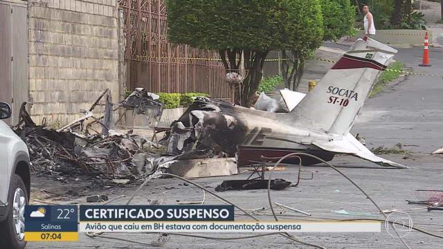 Morre piloto de avião que caiu em Belo Horizonte