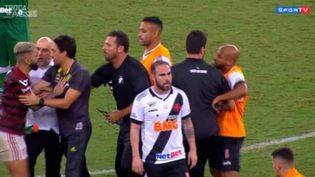 Gerente do Vasco agrediu Gabigol durante confusão após o clássico
