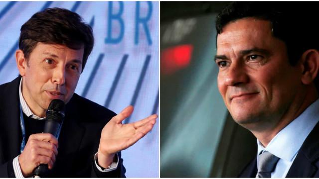 Sergio Moro e João Amoêdo, do Novo, trocam afagos nas redes sociais