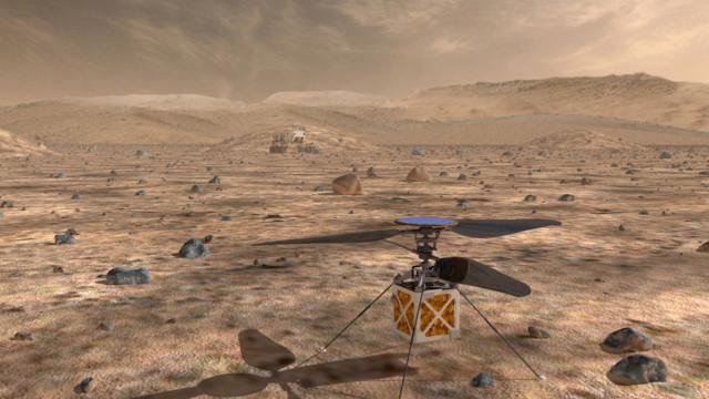Nasa vai enviar mini-helicóptero para explorar Marte em 2020