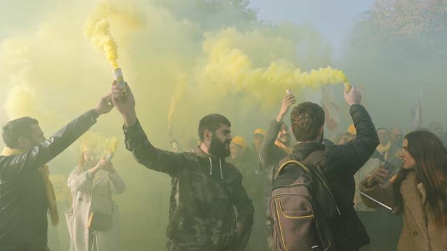 Manifestação contra governo da Geórgia junta 20 mil pessoas