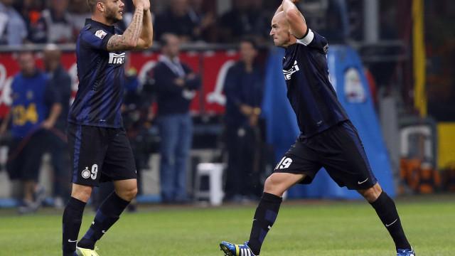 Inter de Milão bate o Palermo e sonha com Liga dos Campeões