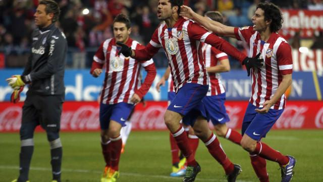 Atlético de Madrid vence e tem vantagem na Copa do Rei