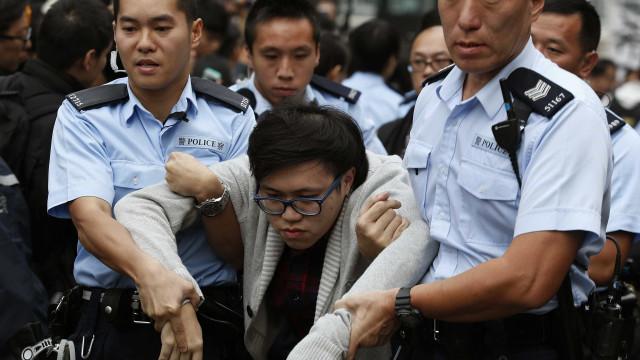 Manifestantes detidos já foram libertados