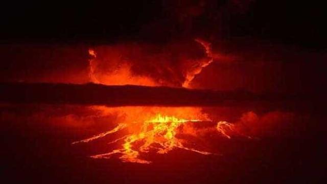Vulcão entra em erupção nas Ilhas Galápagos