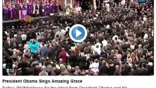 """Obama emociona ao cantar """"Amazing Grace"""" em Charleston. Assista!"""