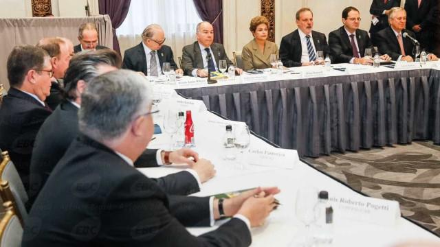 Dilma discute com empresários ampliação das relações com EUA