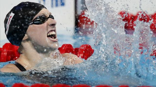 Ledecky bate recorde mundial e ganha 5º ouro em Kazan