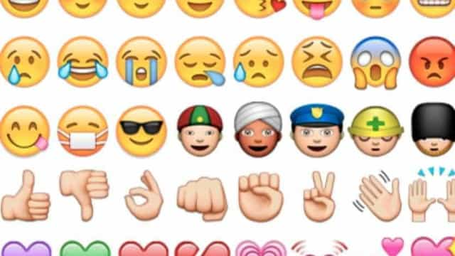 A 'guerra' dos emojis de armas