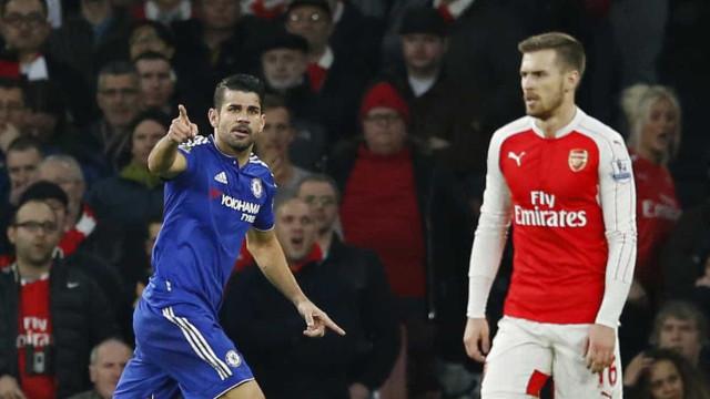 Diego Costa marca no fim e Chelsea busca empate com Manchester United