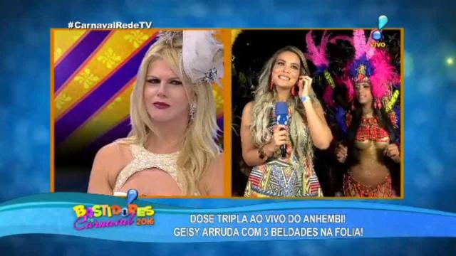 Geisy Arruda chama Val Marchiori de perua e leva troco em programa de TV