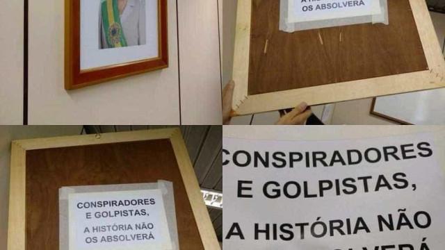 "Equipe de Temer encontra ""recadinho"" de apoiadores da presidente Dilma"