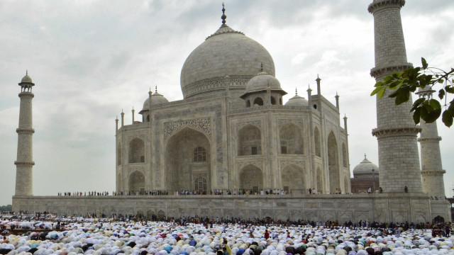 Domo do Taj Mahal ficará coberto para restauro até o fim de 2018