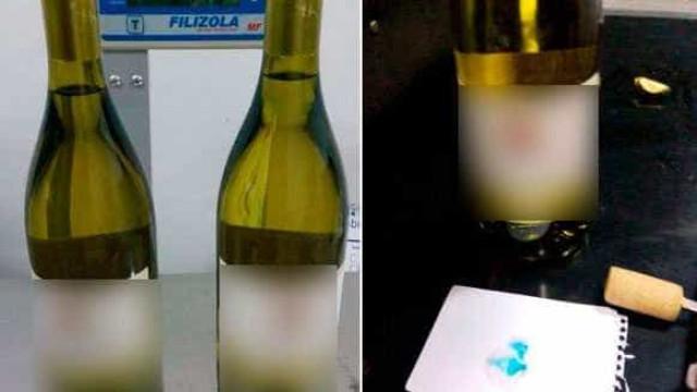 Receita intercepta no aeroporto de SP cocaína diluída em vinho branco