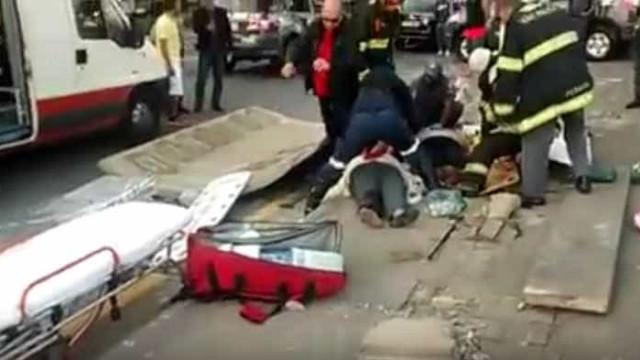 Acidente em ponto de ônibus mata duas idosas no litoral de SP