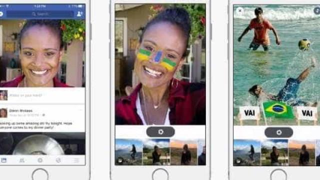 Facebook traz 'filtros de Snapchat'  pegando carona na Olimpíada